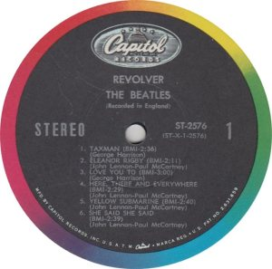 BEATLES LP LABEL 27