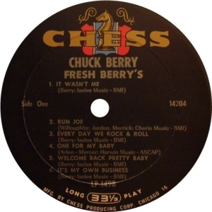 BERRY CHESS LP 1498 AA