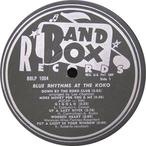 Blue Rhythms - Band Box LPL 1004 - Bue Rhythms at Koko SD1 (1)