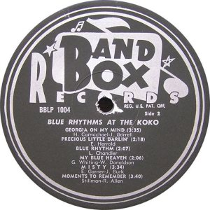 Blue Rhythms - Band Box LPL 1004 - Bue Rhythms at Koko SD1 (2)