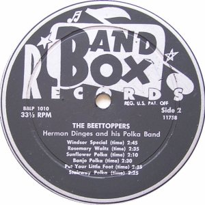 DINGES, HERMAN - BAND BOX 1010 - BEETOPPERS 2