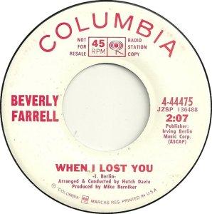 FARRELL BEVERLY 68 B