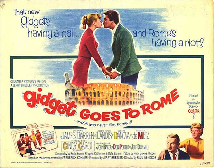 GIDGET GOES TO ROME 1963 CLANTON