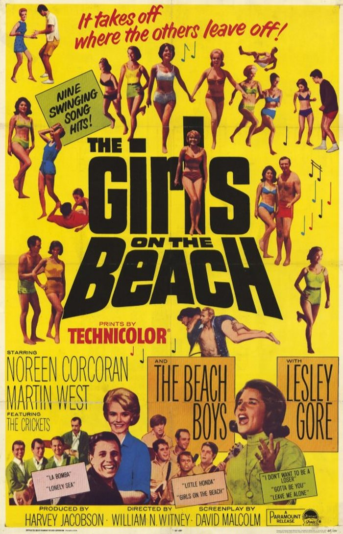 GIRLS ON THE BEACH 1965