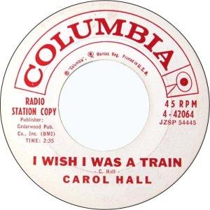 HALL CAROL 61 B