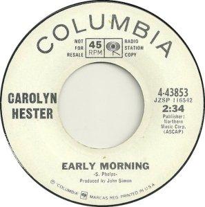HESTER CAROLYN 66 A