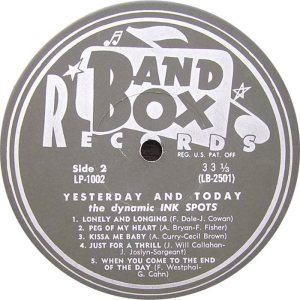 Ink Spots - Band Box LPL 1002 - Ink Spots SD 2 (1)