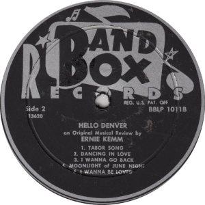 Kemm - Band Box 1011 - Kemm, Ernie - Hello Denver 2 (1)