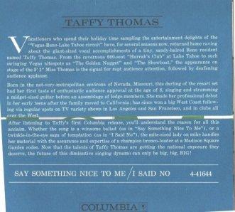 THOMAS TAFFY 60 C