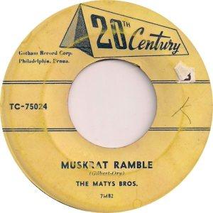 1957-08-28 MATYS BROS 1ST SONG