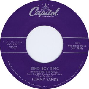 1958-02-28 TOMMY SANDS CO WRT BY ROD MCKUEN
