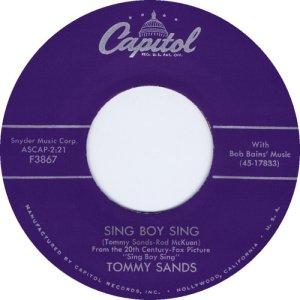 1958-02-28 TOMMY SANDS CO WRT BY ROD MCKUEN