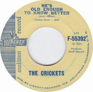 1961 45 - CRICKETS LIBERTY 55392 A