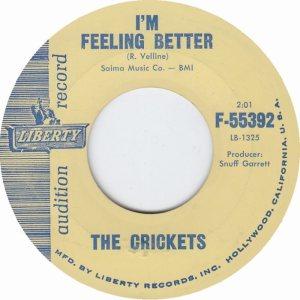 1961 45 - CRICKETS LIBERTY 55392 B
