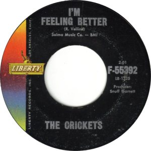1961 45 - CRICKETS LIBERTY 55392 D