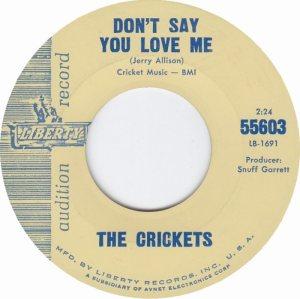 1963-08 - CRICKETS LIBERTY 55603 B
