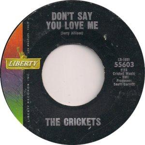 1963-08 - CRICKETS LIBERTY 55603 D