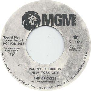 1973-05 45 - CRICKETS MGM 14541 A