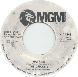1973-05 45 - CRICKETS MGM 14541 B