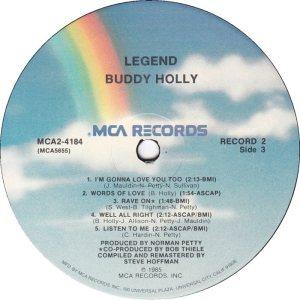1985 - MCA LP 4184 F