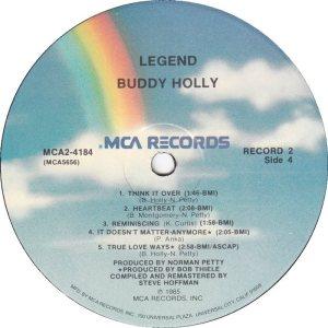 1985 - MCA LP 4184 G
