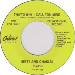 BETTY & CHARLES 69 B