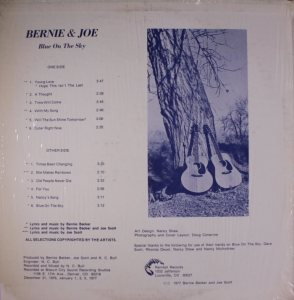 COLORADO - BERNIE & JOE - RAINFALL REC 1977 B