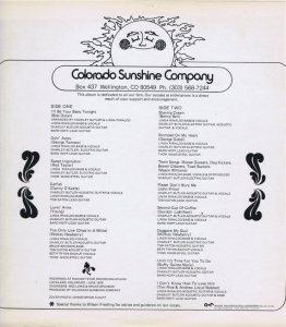 COLORADO - CO SUNSHINE CO B