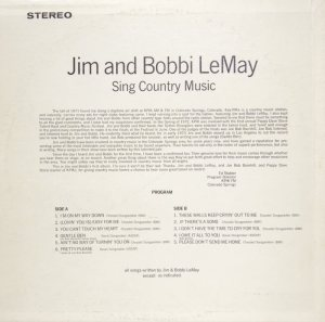 COLORADO - LEMAY JIM BOBBI B