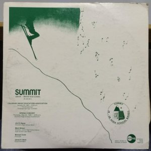 COLORADO - SUMMIT CO HIGH A SOUNDMARK REC 1980