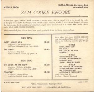 COOKE - 45 EP KEEN 2006 58 B