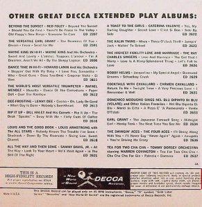 LEE, BRENDA - DECCA 1960 - EP 2682 A