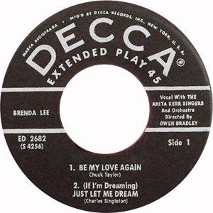 LEE, BRENDA - DECCA 1960 - EP 2682 B