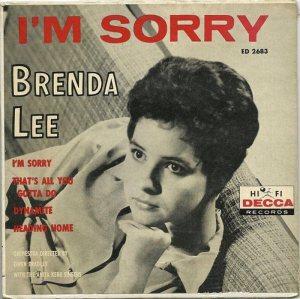 LEE, BRENDA - DECCA 1960 - EP 2683 A