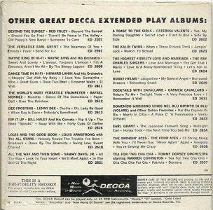 LEE, BRENDA - DECCA 1960 - EP 2683 B