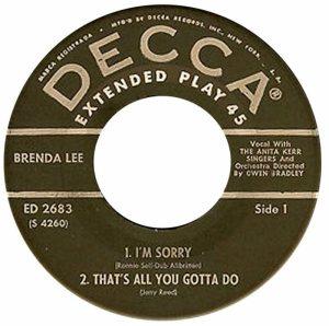LEE, BRENDA - DECCA 1960 - EP 2683 C