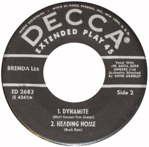 LEE, BRENDA - DECCA 1960 - EP 2683 D