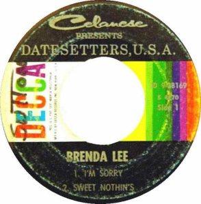 Lee, Brenda - Decca 1960 EP 38169 B