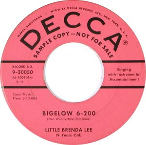 LEE, BRENDA DECCA 30050 B