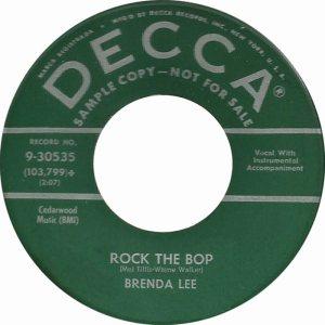 LEE, BRENDA DECCA 30535 A