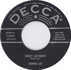 Lee, Brenda - Decca 30967 - Sweet Nothins B