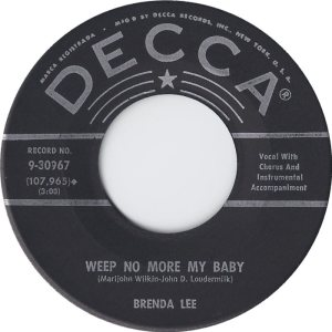 Lee, Brenda - Decca 30967 - Sweet Nothins C