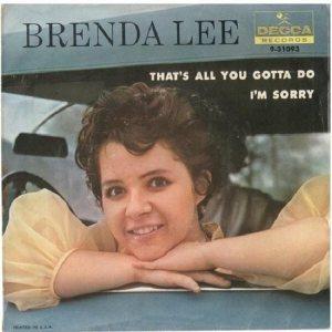 Lee, Brenda - Decca 31093 A