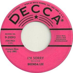 Lee, Brenda - Decca 31093 B