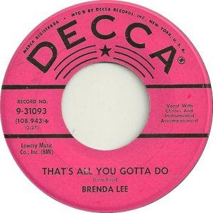 Lee, Brenda - Decca 31093 C