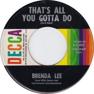 Lee, Brenda - Decca 31093 E