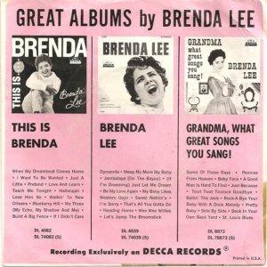 Lee, Brenda - Decca 31195 B