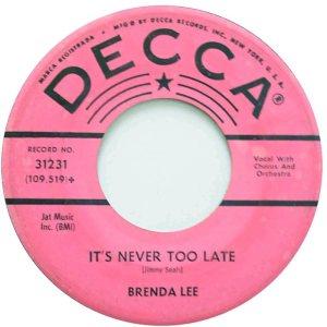 Lee, Brenda - Decca 31231 C