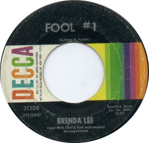 Lee, Brenda - Decca 31309 C