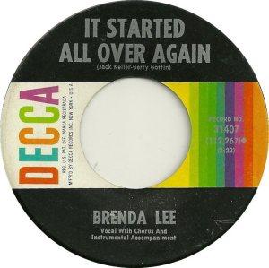LEE, BRENDA DECCA 31407 B